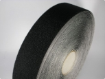 Velours - with adhesive 23 - width 50mm - black - 25m